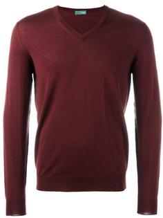 пуловер с V-образным вырезом Drumohr