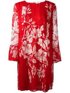 платье-шифт с цветочным принтом Fendi