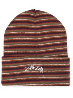 шапка в полоску Stussy