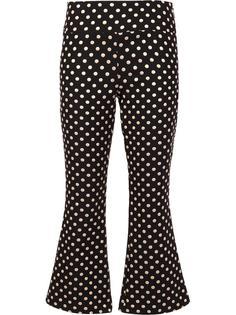 укороченные брюки в горошек Nicole Miller