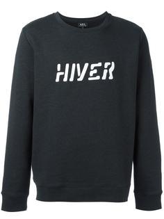 толстовка с принтом 'Hiver' A.P.C.