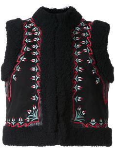 жилет с вышивкой с цветочным узором Vilshenko
