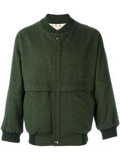 куртка-бомбер с панельным дизайном Hermès Vintage