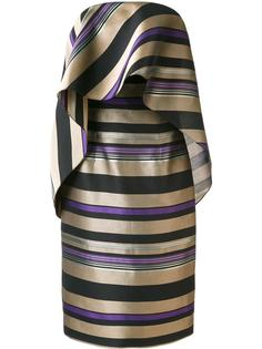 платье в полоску Christian Siriano