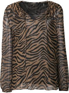прозрачная блузка с тигровым принтом Kobi Halperin