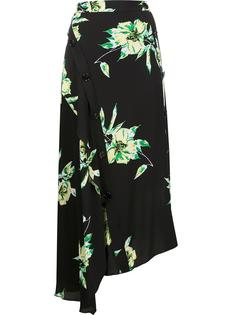 асимметричная юбка с цветочным принтом Proenza Schouler