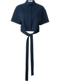 рубашка на завязках спереди MSGM