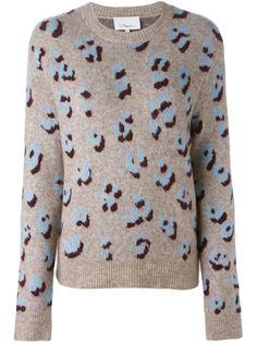 свитер с леопардовым узором-интарсией 3.1 Phillip Lim