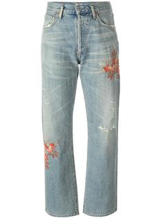 джинсы с вышивкой Citizens Of Humanity