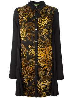 платье-рубашка с тигровым узором Versace Jeans