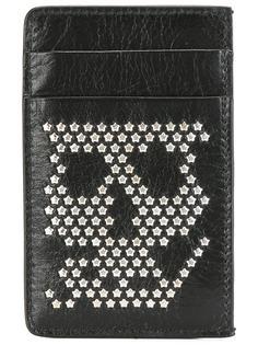 кошелек для карт 'Skull' с заклепками Alexander McQueen