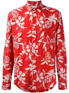 рубашка с гавайским узором Saint Laurent