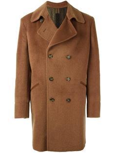 двубортное пальто мешковатого кроя Etro