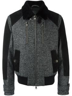 куртка-бомбер с воротником из овчины Salvatore Ferragamo
