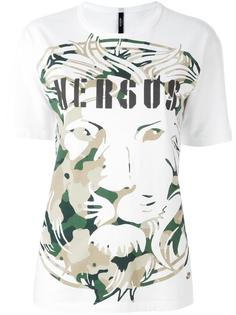футболка с принтом льва Versus