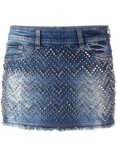джинсовая юбка мини 'Actinidia'  Philipp Plein