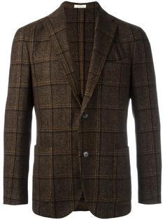 клетчатый пиджак с накладными карманами Boglioli
