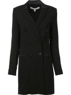 приталенное двубортное пальто Veronica Beard