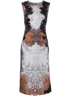 жаккардовое платье с цветочным узором Alberta Ferretti