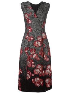 жаккардовое платье миди с цветочным узором Alberta Ferretti