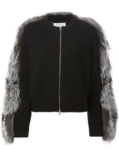 куртка с меховой вставкой Maison Margiela