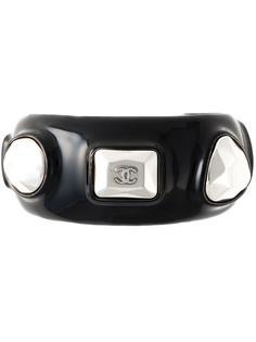 браслет-кафф с заклёпками Chanel Vintage