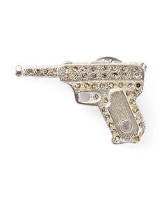 брошь в форме пистолета Yves Saint Laurent Vintage
