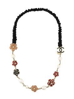 цветочное ожерелье Chanel Vintage