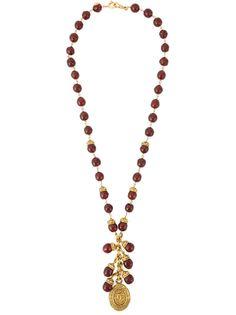 ожерелье с бусинами  Chanel Vintage