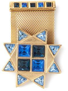 брошка с военной звездой Yves Saint Laurent Vintage