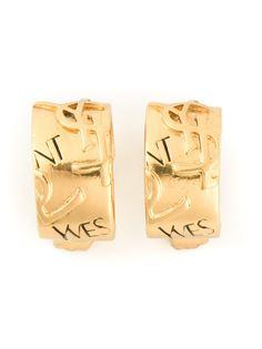 """серьги с тиснением """"YSL"""" Yves Saint Laurent Vintage"""