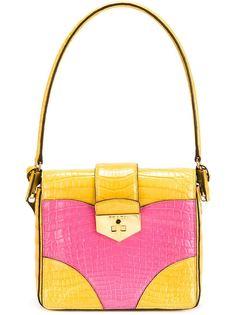сумка-тоут в стиле колор-блок Prada Vintage