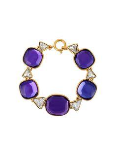браслет с гранеными кристаллами Yves Saint Laurent Vintage