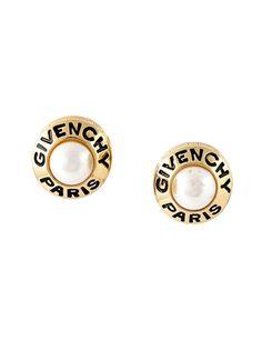 клипсы с жемчужинами Givenchy Vintage