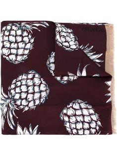 шарф с принтом ананасов Valentino