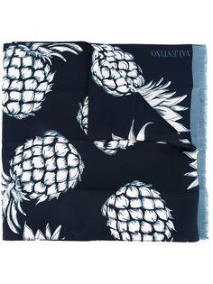 шарф с принтом ананасов Valentino Garavani
