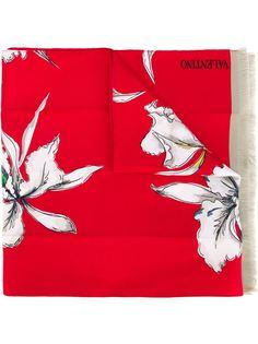шарф с принтом ирисов Valentino