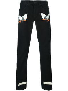 джинсы с вышивкой в виде орла Off-White