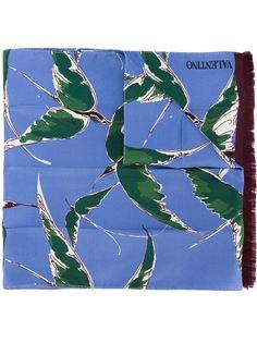 шарф с принтом птиц Valentino