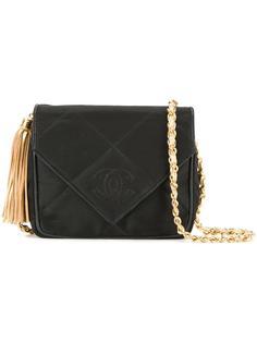 сумка-конверт с декоративной кисточкой Chanel Vintage