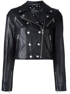 укороченная кожаная куртка Dolce & Gabbana