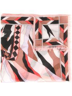 шарф с принтом пейзажа Emilio Pucci