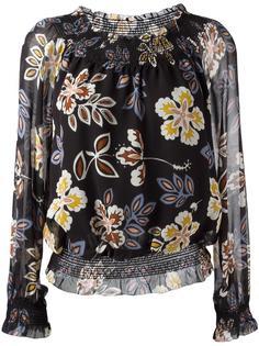 блузка с цветочным принтом Tory Burch