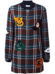 клетчатая куртка-бомбер Au Jour Le Jour