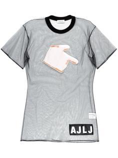 полупрозрачный топ с нашивкой-рукой Au Jour Le Jour