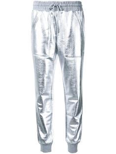 спортивные брюки с отделкой металлик Love Moschino