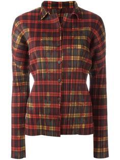 рубашка в клетку Issey Miyake Vintage