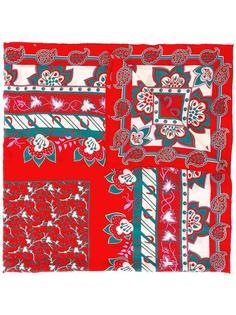 платок с цветочным узором Hermès Vintage