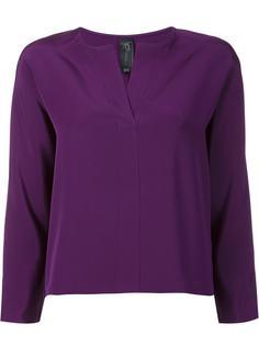 блузка с разрезом на вырезе Zero + Maria Cornejo