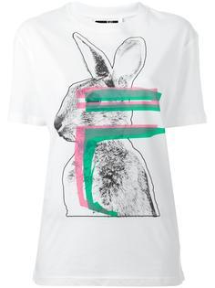 футболка с принтом зайца McQ Alexander McQueen